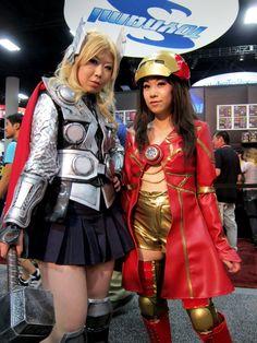 Female Thor & Iron Man #cosplay #Rule63