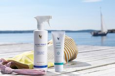 """Tip of the week from Forever . This week's product tip is from Felicity Wallbank: """"Been in the sun? Add some Aloe Moisturizing Lotion to Aloe First and shake well. Spray on as a cooling, soothing body milk"""". Forever Aloe, Forever Living Aloe Vera, Forever Living Brasil, Propolis Creme, Forever Living Business, Summer Skin, Summer 3, Forever Living Products, Aloe Vera Gel"""