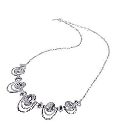 Look what I found on #zulily! Swarovski® Crystal & Rhodium Statement Necklace #zulilyfinds
