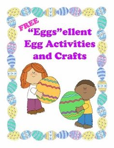 A collection of educational egg activities and crafts that are the perfect addition to your Easter or Spring themes.