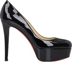 """Christian Louboutin Bianca Platform Pumps Black Patent 35 Worn Only A Few TimesNotice-me platform silhouette, impeccably crafted in Italy of luxurious patent leather.Super Sexy Sky High Self-covered heel, 5½"""" (140mm)Covered platform, 1¼"""" (30mm)Compares to a 4¼"""" heel (110mm)Patent leather upperLeather liningSignature red leather solePadded insoleMade in ItalyShoes are in EXCELLENT condition, only worn a few times."""