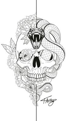 Snake Tattoo Meanings Itattoodesigns Com - Rose And Snake Tattoos A Rose By Anot., - Snake Tattoo Meanings Itattoodesigns Com – Rose And Snake Tattoos A Rose By Anot…, - Skeleton Tattoos, Skull Tattoos, Rose Tattoos, Body Art Tattoos, Hand Tattoos, Sleeve Tattoos, Tattoo Roses, Symbols Tattoos, Flower Tattoos