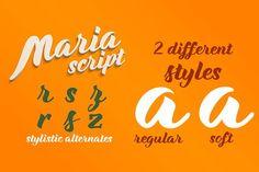 Maria Script Font Family by CRR   NTN on @creativemarket