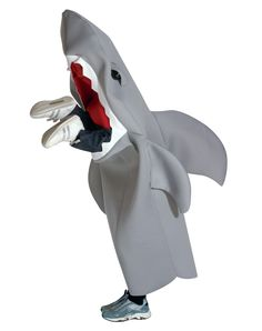 Man Eating Shark Child Costume at Spirit Halloween - Bring some people's worst nightmare right to their doorstep when you wear this Man Eating Shark Child Costume. The grey, one-piece tunic features an open mouth with protruding legs. Eat your fill on Halloween just like Sharknado for $49.99.