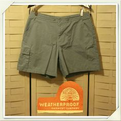 3/$24 Weatherproof Outdoorsy Shorts Dusty baby blue color, inner drawstring,side cargo pocket. A brand loved by outdoorsy types! Weatherproof  Shorts