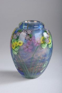 daniel salazar glass | 852: LUNDBERG ART GLASS VASE , signed Daniel Salazar, L