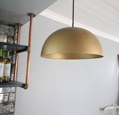 14 Brass Dome Pendant Light dining room light kitchen