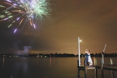 The night ended with a bang, as well as a few more kisses! Outdoor Ceremony, Kisses, Floral Arrangements, Reception, Wedding Day, Tropical, Night, Amazing, Beautiful
