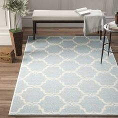 Mack & Milo™ Striped Handmande Braided Cotton Bright Blue/Navy Rug & Reviews   Wayfair Blue And White Rug, Blue Ivory, Living Room Decor Traditional, Traditional Area Rugs, Wool Area Rugs, Blue Area Rugs, Cottage Dining Rooms, Peaceful Bedroom, Rug Loom