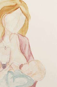Breastfeeding Art - Supplemented Nursing System - SNS Art Print