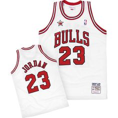 Buy Michael Jordan Mitchell   Ness Chicago Bulls 1998 All-Star White Jersey  from Reliable Michael Jordan Mitchell   Ness Chicago Bulls 1998 All-Star  White ... 9d940b0d4