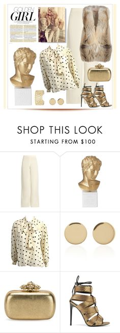 """Golden Girl"" by outfitsloveyou ❤ liked on Polyvore featuring Murphy, Ryan Roche, Jimmy Choo, Sophia, Yves Saint Laurent, Magdalena Frackowiak, Alexander McQueen, Tom Ford and Buccellati"