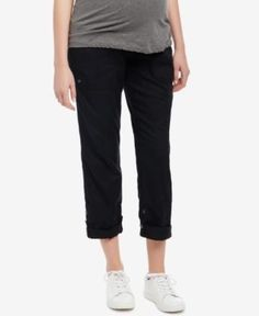 Motherhood Maternity Ankle Pants - Black XL