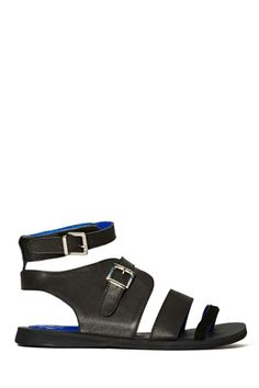 Jeffrey Campbell Sanibel Sandal - Black Leather