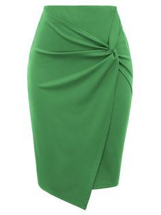 Kate Kasin Women's Bodycon Pencil Skirt with Blet Solid Color Hip-Wrapped Latest African Fashion Dresses, Body Con Skirt, Sexy Skirt, Skirt Outfits, Office Skirt Outfit, Skater Outfits, Classy Outfits, Fashion Outfits, Fashion Fashion