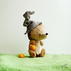 Halloween Hedgehog Miniature Teddy Friend 4 by KittyAprilHandmade, $43.00