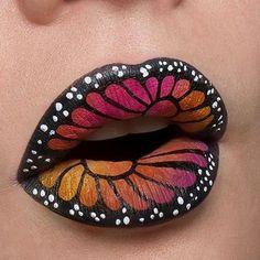 22 Schmetterling Fantasy Make Up 22 Schmetterling Fantasy Make Up . - 22 Schmetterling Fantasy Make Up 22 Schmetterling Fantasy Make Up – Butterfly Make - Lip Art, Lipstick Art, Lipstick Dupes, Lipsticks, Fantasy Make Up, Fantasy Hair, Lipstick Designs, Lip Designs, Butterfly Makeup