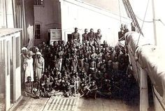 Photographs taken on slave ships are rare. This one was taken underhand by Marc Ferrez in 1882 aboard a French slave vessel Rio de Janeiro inbound.