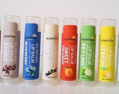100% Natural Beeswax Lip Balms-Choose from 10 Assorted Flavors