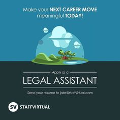 Make your next career move meaningful today! Apply as a Legal Assistant for our Makati site today! Send your resume to jobs@staffvirtual.com today!  #LegalJob #SVCareers #Paralegal #STAFFVIRTUAL #jurisdoctor #Hiring #jobs #work #Philippines #BPO #photooftheday #instagood #igers