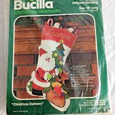 Bucilla Jeweled Christmas Heirloom Stocking Kit Christmas Delivery New Kit   Bucilla Christmas Delivery a11164ee1