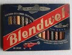 Blendwell Large 1940s Crayon Set Front.  Because we know how well crayons blend.