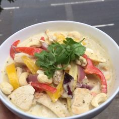 Hold tight for the #leanin15 ChickenThai Green curry with cashew nuts! I'm having this low carb on its own but you can have it with some jasmine rice if you want to smash some carbs in too Either way  (Rotisserie Chicken Curry)