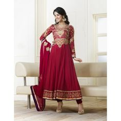 Morrocan Red Anarkali Suit