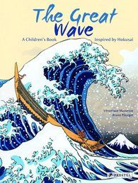 """""""In this children's book, the artist's masterpiece is the genesis for a simple but compelling story, beautifully illustrated in pictures that recall Hokusai's brilliant use of detail, perspective and color. A stunning reproduction of the woodcut itself is featured in the book, supplemented by information about the artist and his work. At once modern and classic, The Great Wave introduces young readers to a beloved artist and his timeless portrayals of nature and transformation."""""""
