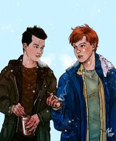 Ian and Mickey Shameless Mickey And Ian, Ian Shameless, Ian And Mickey, Shameless Tv Series, Shameless Memes, Movies Showing, Movies And Tv Shows, Captive Prince, Noel Fisher