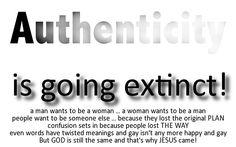 Authenticity . . .
