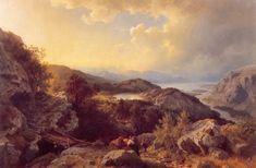 Hans Gude (Norwegian 1825–1903) [Norwegian romantic nationalism] Fra Vossevangen, 1860. Private Collection.