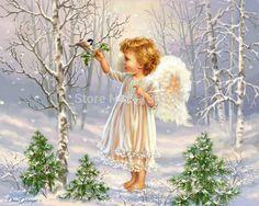 Маленький-ангел-снежном-поле-площадь-дрель-алмаз-роспись-стены-декор-новый-рукоделие-вышивание-алмаз-вышивка.jpg (800×640)