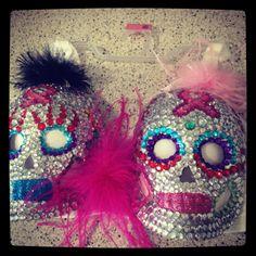 Sugar Skulls Bras for a Cause--1st place winner 2013