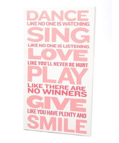 dance like no one is watching. #print #zulily #ad *love