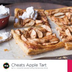 Cheats Apple Tart Recipe Card Front