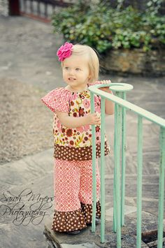 Indian Summer Peasant Top and Ruffle Pant Outfit by curiousgeorgia, $52.00