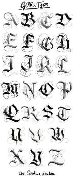 Gotisches Alphabet – … – Graffiti World Gotisches Alphabet, Alphabet Graffiti, Style Alphabet, Gothic Alphabet, Tattoo Fonts Alphabet, Calligraphy Fonts Alphabet, Hand Lettering Alphabet, Alphabet Letters Design, English Alphabet