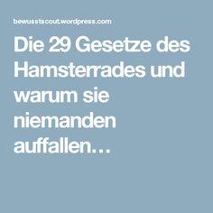 Die 29 Gesetze des Hamsterrades und warum sie niemanden auffallen…