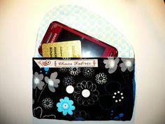Handytasche Bowie mit Schleife und Extrafach z. B. für EC Karte oder Visitenkarten. Größe M passend für IPhone 5 und Samsung Galaxy S2  Stoff mi...