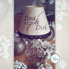 #weinglas #lamp #diy #present #wedding