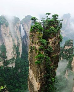 Tianzi Mountain Zhangjiajie in the Hunan Province of China  #Hunan #China #mountains #tianzi #zhangjiajie