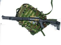 Wilson Combat 870 Border Patrol, 12G Armor-Tuff Black Knoxx Spec-Ops Stock Upgrade, MESA 6 Shot Shell Holder - Impact Guns