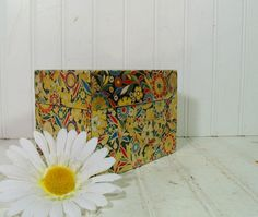 Retro Flower Power Litho Metal Large Recipe Box  by DivineOrders, $12.00