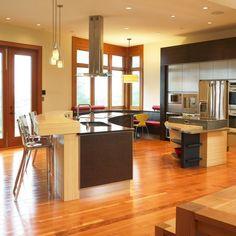 Kitchen Photos - Home Kitchen Design Curved Kitchen Island, Black Kitchen Island, Images Of Kitchen Islands, Kitchen Photos, Kitchen Styling, Kitchen Decor, Kitchen Ideas, Kitchen Chairs, Kitchen Interior