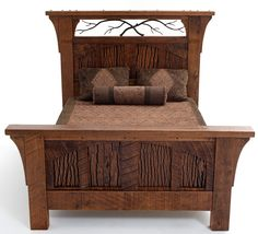 Rustic Bedroom Furniture, Log Bed, Mission Beds, Burl Wood Furnishings, Log Cabin Bedroom Furniture
