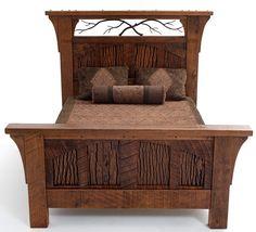 Rustic Bedroom Furniture Log Bed Mission Beds Burl Wood Furnishings Log Cabin