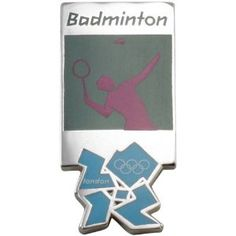 Price: $8.95 - London 2012 Olympics Badminton Pictogram Pin - TO ORDER, CLICK THE PHOTO