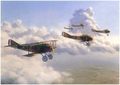 ... SPAD XIII fighter planes, one of the most advanced aircraft of the time