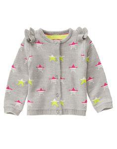 Gymboree Girls Toddler 2T Gray Star Ruffle Cardigan NWT $37 #Gymboree #Cardigan #DressyEveryday